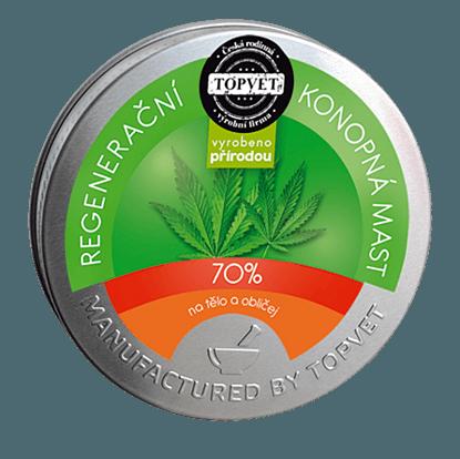 Zdjęcie Regenerującej maści konopnej 70% 100 ml marki Topvet