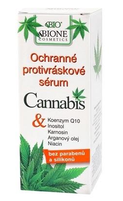 Obrazek BIONE COSMETICS Przeciwzmarszczkowe serum ochronne Cannabis